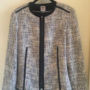 Anne Klein zip-front blazer